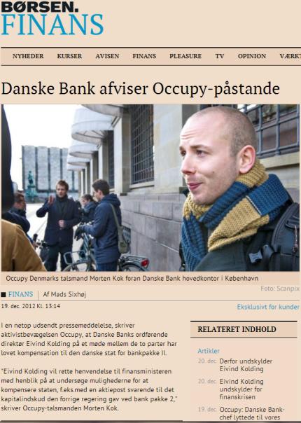 Danske Bank afviser Occupy-påstande