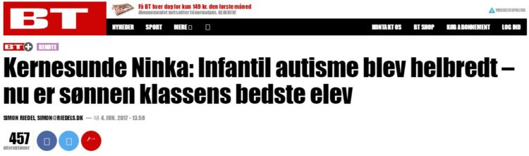Nej. Autisme kan ikke kureres med kostomlægninger.